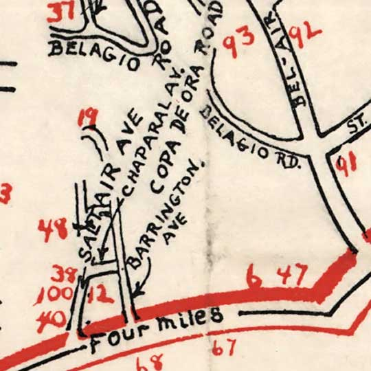 Ragsdale's movie guide map : 1938 latest edition  image detail