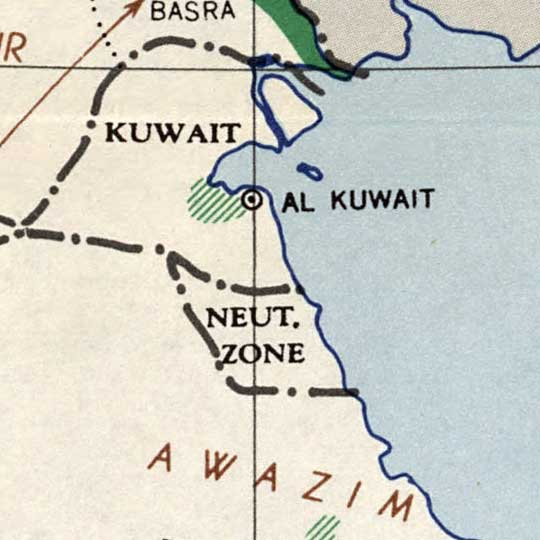 CIA Map of Arab States in 1947 image detail