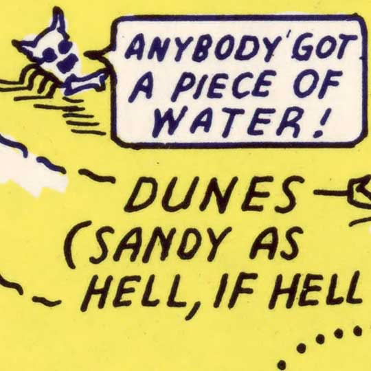 Lindgren's Humorous Map of Death Valley in 1948 image detail