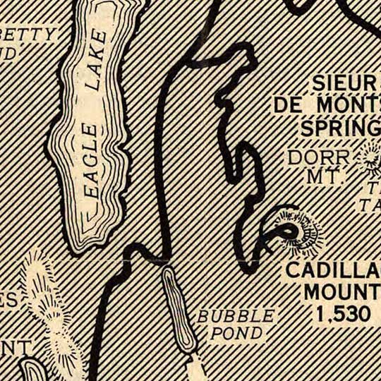 Guide Map of Acadia National Park in 1949 image detail