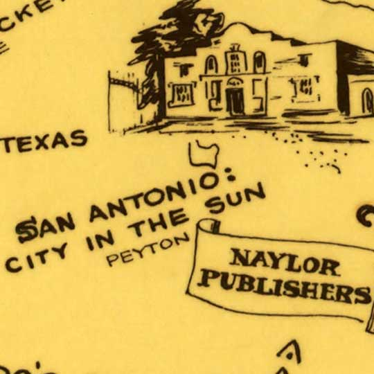 Literary map of Texas by the Dallas Public Library (1955) image detail