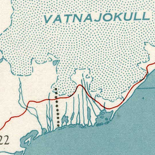 CIA Map of Iceland in 1958 image detail