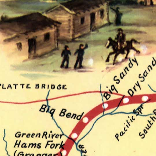 The Pony Express Route in 1960 image detail