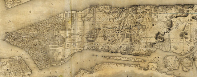 Topographical Map Of The City and County Of New - York wide thumbnail image