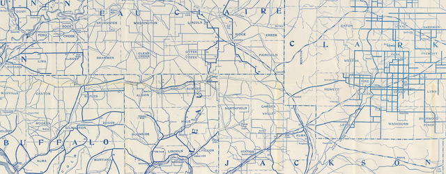 Bicycle Road Map of Wisconsin. Published by Wisconsin Division, League of American Wheelmen wide thumbnail image