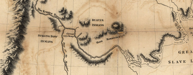 A map of Mackenzie's track from Fort Chipewyan to the north sea in 1789 wide thumbnail image