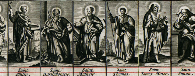 A mapp of the travels and voyages of the apostles in their mission and in partiular of Saint Paul wide thumbnail image