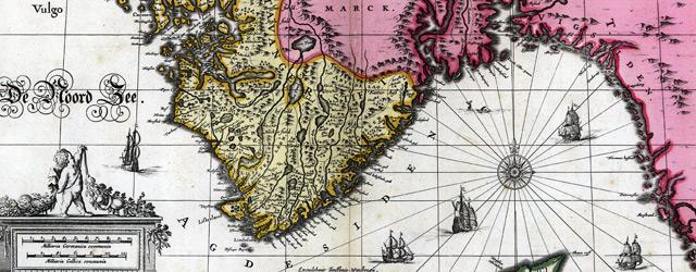 Nova et accurata tabula episcopatvvm Stavangeriensis, Bergensis et Asloiensis wide thumbnail image