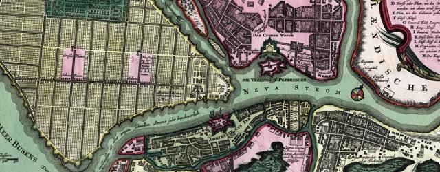Nova et accuratissima urbis St. Petersburg à Russorum Imperatore Petro Alexiewiz ao. 1703 ad ostium wide thumbnail image