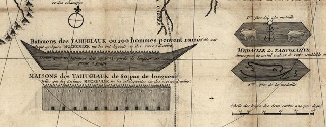 Carte de la riviere Longue : et de quelques autres, qui se dechargent dans le grand fleuve de Missisipi wide thumbnail image
