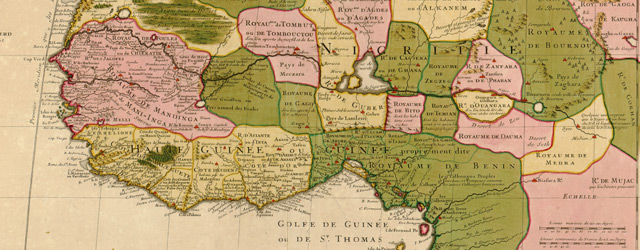 Carte de la Barbarie, de la Nigritie, et de la Guinée  wide thumbnail image