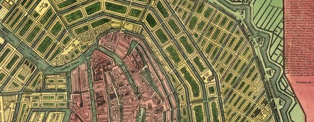 Accurater Grundris und Prospect der weltberuhmten Hollandischen Haupt und Handels-Stadt Amsterdam  wide thumbnail image