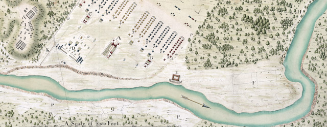 A plan of George Stadt Camp near the River Guantamano in the island of Cuba  wide thumbnail image