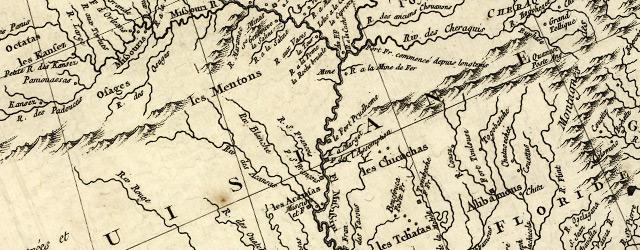 Carte de la Louisiane et pays voisins, pour servir a l'Histoire générale des voyages. wide thumbnail image
