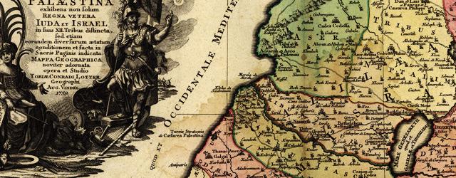 Terra Sancta sive Palæstina exhibens no folum Regna vetera Iuda et Israel in fuas XII Tribus diftincta wide thumbnail image