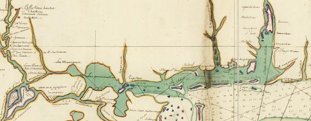 Carte de la coste de la province de la Louisiane et des bouches du Micissipy ou fleuve St. Louis wide thumbnail image
