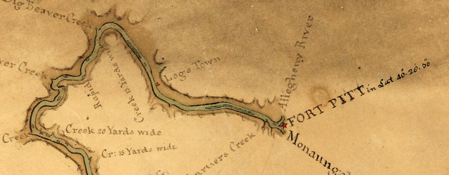Map of the Ohio River from Fort Pitt wide thumbnail image