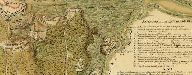 Siège de Savannah fait par les troupes françoises aux ordres du général d'Estaing vice-amiral de France wide thumbnail image