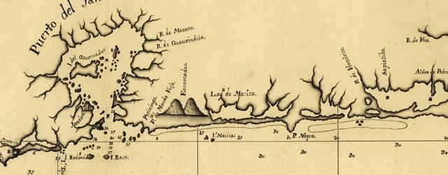 Carta esferica de la costa del Janeiro, que comprende desde las Yslas de Sta. Ana hasta Punta Joatinga  wide thumbnail image