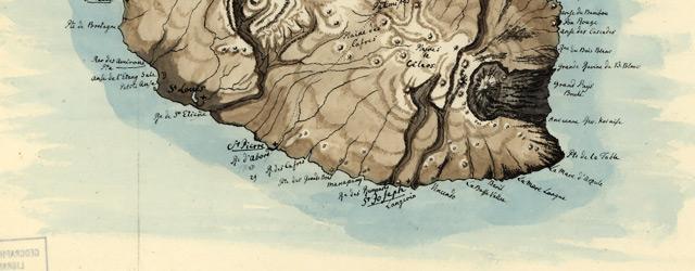 Insel Mascarenha, Bourbon, La Réunion oder Bonaparte nach Bory St. Vincent wide thumbnail image