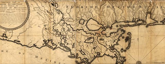 Carte générale du territoire d'Orléans comprenant aussi la Floride Occidentale et une portion du territoire du Mississipi wide thumbnail image