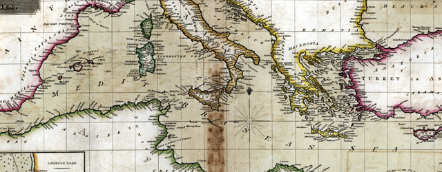 Chart of the Mediterranean Sea / drawn & engraved for Thomson's New general atlas, 1817  wide thumbnail image