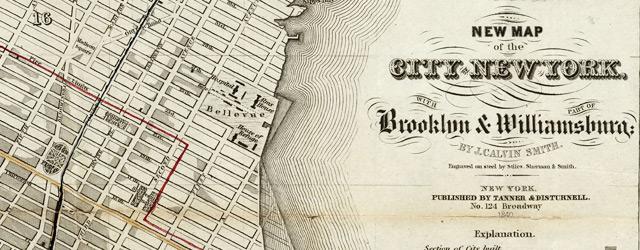 New Map of the City Of New York, With Brooklyn & Parts Of Williamsburgh wide thumbnail image