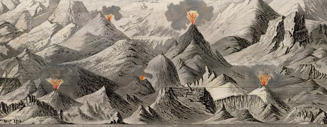 Tableau comparatif de la forme et de la hauteur des principales montagnes du globe terrestre wide thumbnail image
