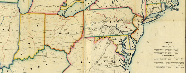 Pennsylvania's great highway and its tributary lines wide thumbnail image