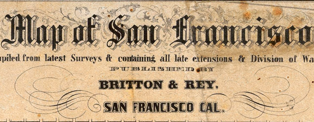 Map of San Francisco, Compiled from latest Surveys & containing all late extensions & Division of Wards wide thumbnail image