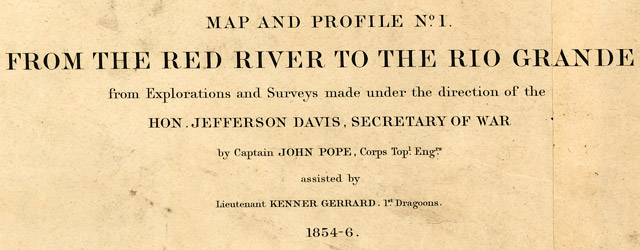 From the Red River to the Rio Grande from explorations and surveys made under the direction of the Hon. Jefferson Davis, Secretary of War  wide thumbnail image