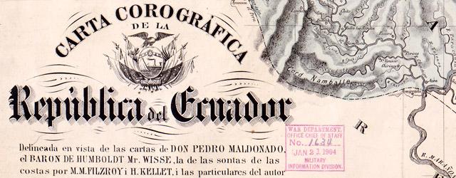 Carta corográfica de la Republica del Ecuador  wide thumbnail image
