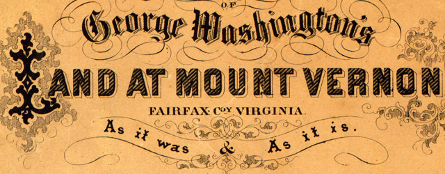 Map of George Washington's land at Mount Vernon wide thumbnail image