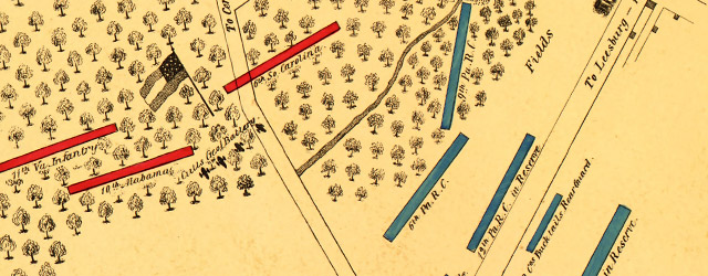 Map of the action at Drainsville, Va., December 20th 1861  wide thumbnail image