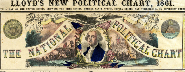 Lloyd's New Political Chart, 1861 wide thumbnail image