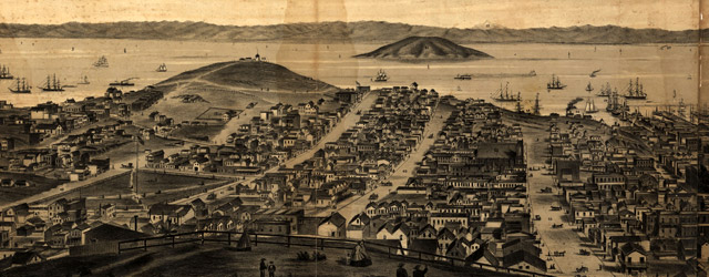 San Francisco, 1862, from Russian Hill  wide thumbnail image