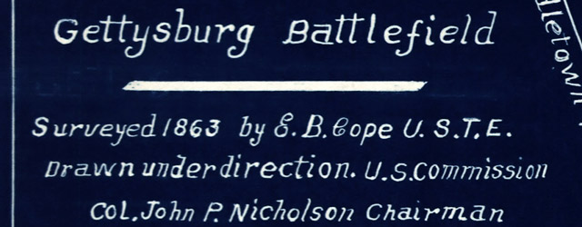 Gettysburg battlefield Surveyed 1863 by E. B. Cope wide thumbnail image