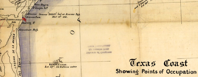 Texas Coast showing points of occupation of expedition under Maj. Gen. N.P. Banks  wide thumbnail image