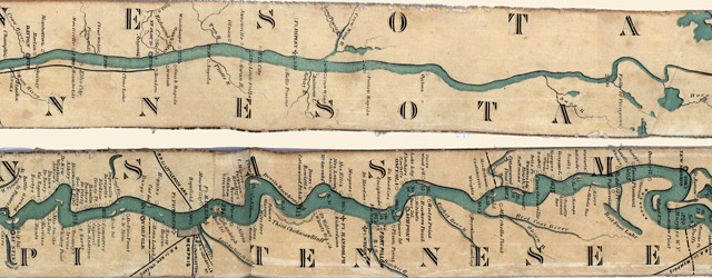 Ribbon Map of the Father of Waters wide thumbnail image