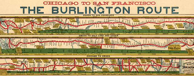 Chicago to San Franciso via the Burlington Route wide thumbnail image