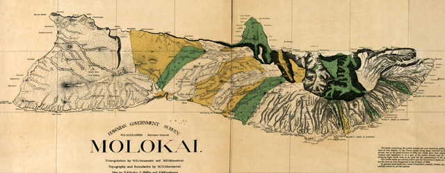 Molokai / triangulation by W.D. Alexander and M.D. Monsarrat  wide thumbnail image