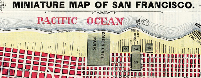 Miniature Map Of San Francisco wide thumbnail image