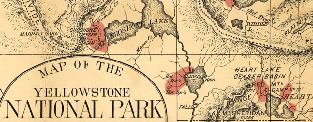 Map of the Yellowstone National Park wide thumbnail image