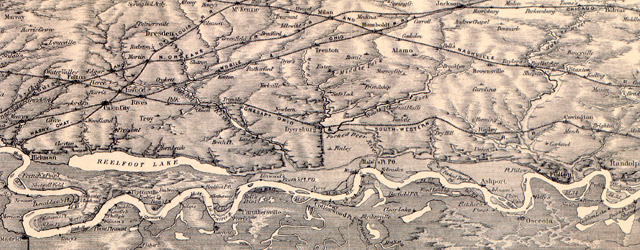 Bird's-eye view of the Mississippi River : from the mouth of the Missouri to the Gulf of Mexico, 1884  wide thumbnail image