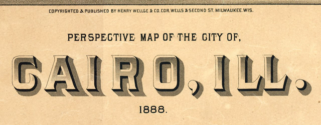 Perspective map of the city of Cairo, Ill.  wide thumbnail image