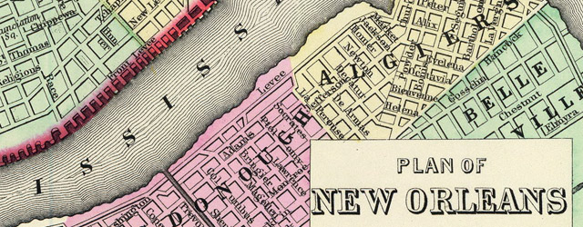 Plan of New Orleans wide thumbnail image