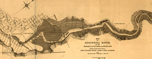 Map of Anacostia River in the District of Columbia  wide thumbnail image