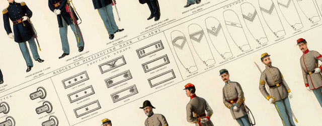 Civil War Uniforms, officers and enlisted men wide thumbnail image