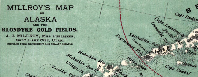 Millroy's map of Alaska and the Klondyke gold fields wide thumbnail image