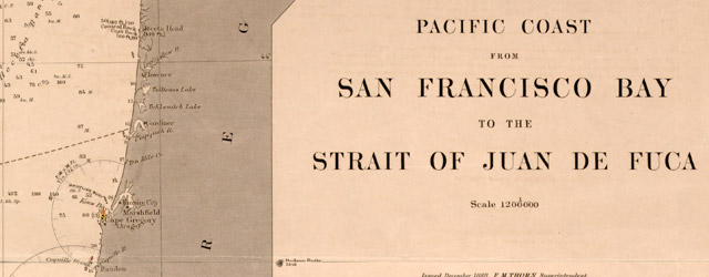 Pacific Coast from San Francisco Bay to the Strait of Juan de Fuca  wide thumbnail image